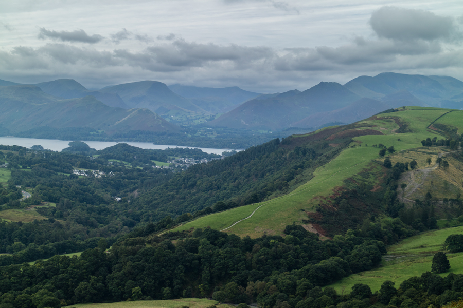 Latrigg on the right and the north western fells beyond Derwent Water from my ascent of Blease Fell