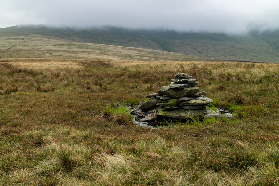 Looking back to Blencathra from Mungrisdale Common's summit cairn