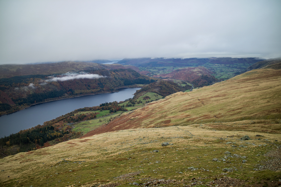 Looking back down on Thirlmere