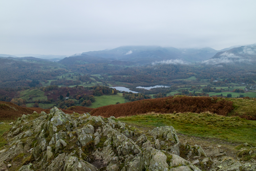 Looking towards the Coniston Fells