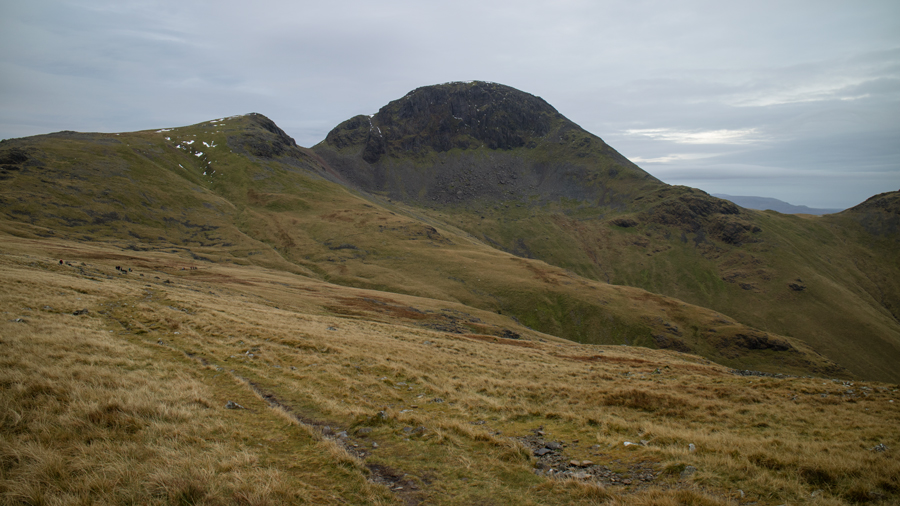 Great Gable with Green Gable on the left