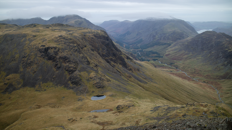 Looking over Beck Head to Kirk Fell