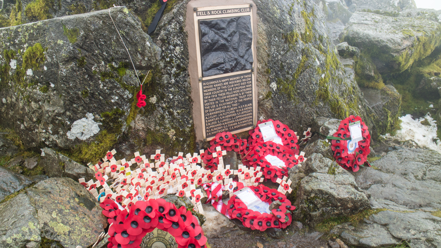 The Fell and Rock Climbing Club's war memorial on Great Gable summit