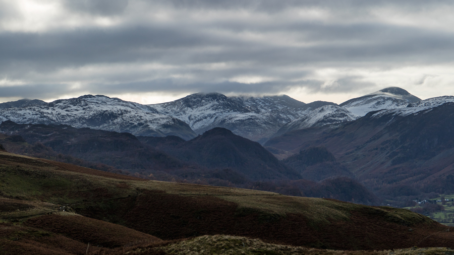 Looking south to the high fells