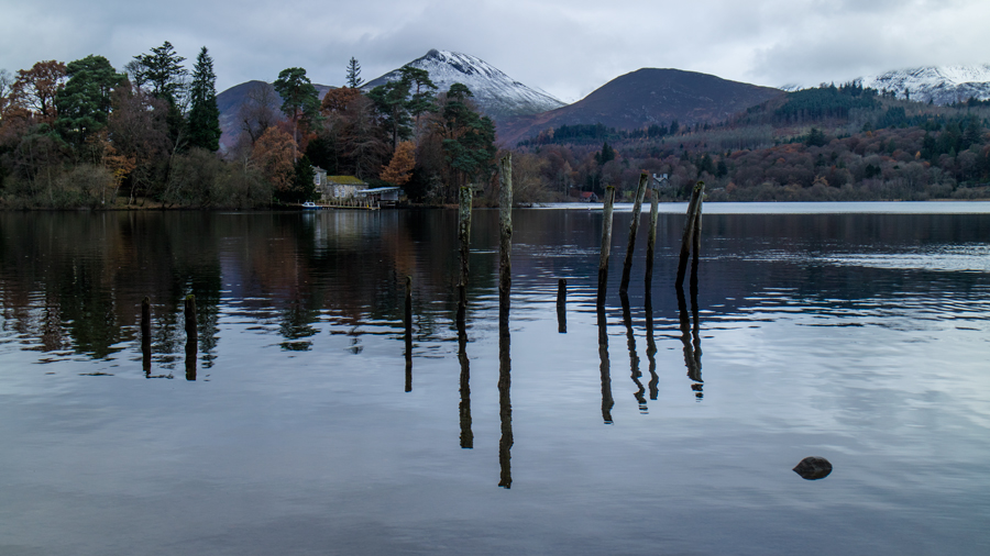 Derwent Isle with Causey Pike behind from the Keswick landing stages