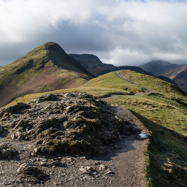 Looking towards Catbells summit from Skelgill Bank