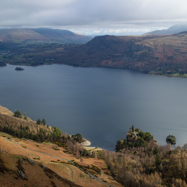 Walla Crag on the other side of Derwent Water