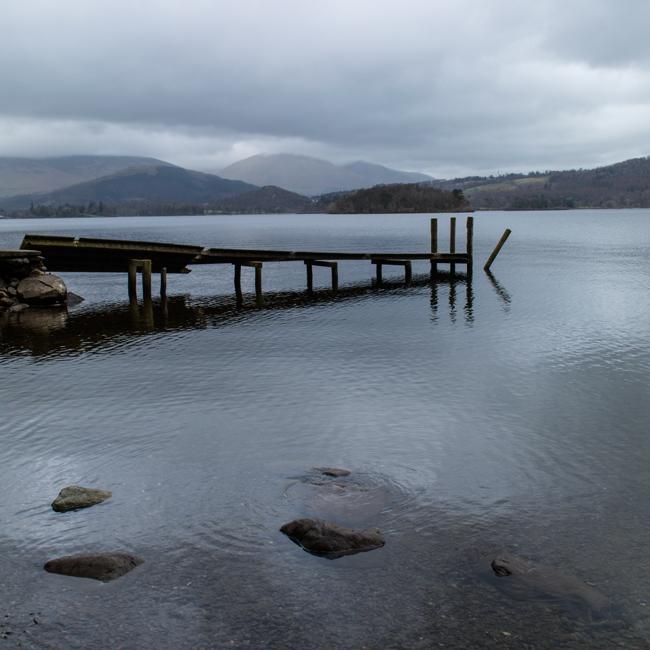 Low Brandelhow jetty, it's seen better days