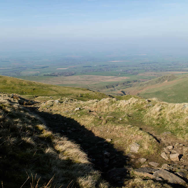 Hazy, no views of the Lake District today