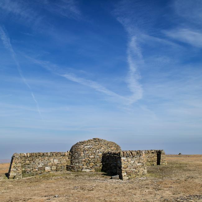 Cross Fell's restored summit cross shelter