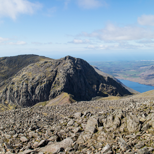Looking across to Scafell