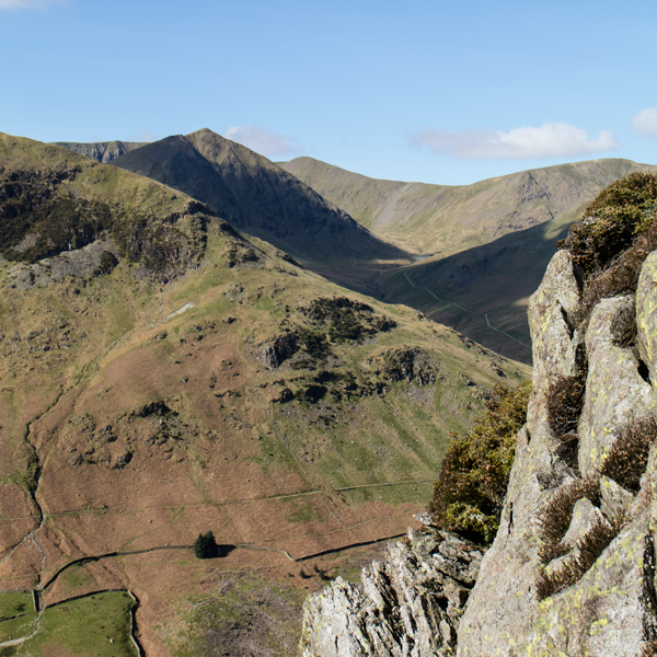 Looking across to Catstycam from the east ridge