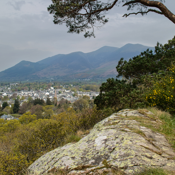 Keswick and the Skiddaw fells from Castle Head