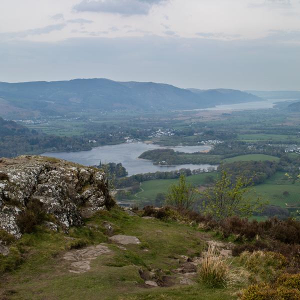 Part of Derwent Water and Bassenthwaite Lake
