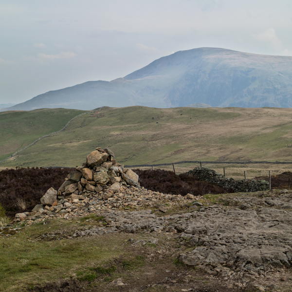 Clough Head from Walla Crag's summit cairn