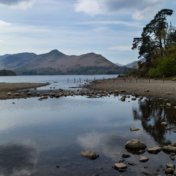 Looking across to Catbells from next to Friar's Crag