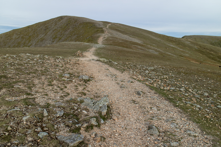 The steep bit over, Helvellyn Lower Man ahead but the path goes across its right flank directly to Helvellyn's summit