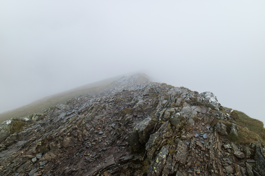 The start of the ridge to Whiteside from Hopegill Head, I'm not going that way today