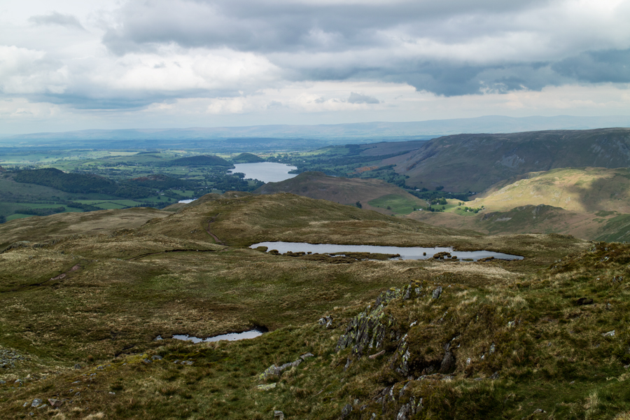 The view north from Place Fell's summit
