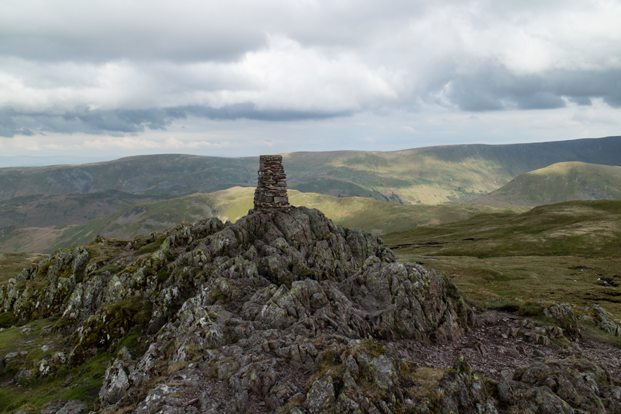 The summit trig point