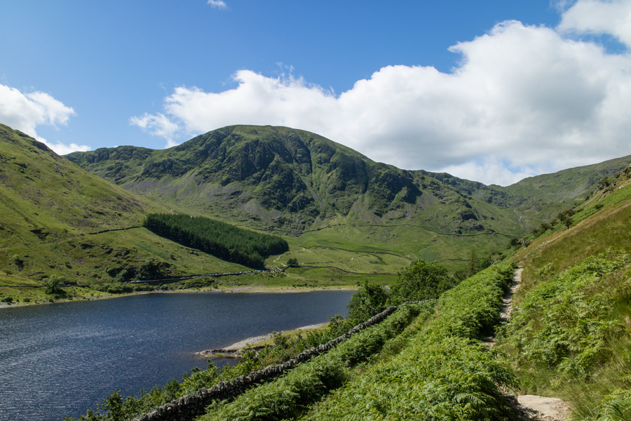 Looking back to Mardale Head with Harter Fell behind