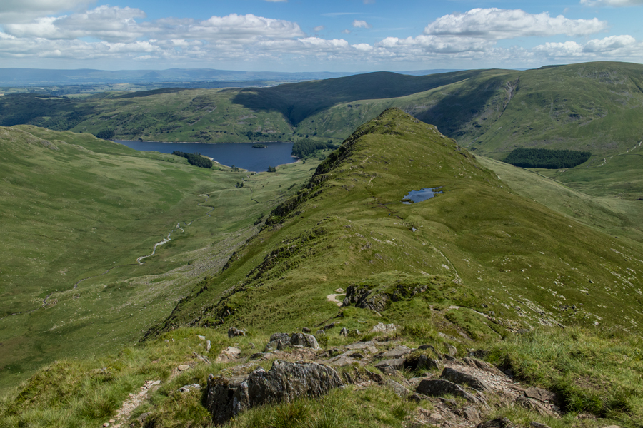 Looking back down to Rough Crag
