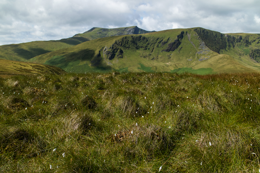 Blencathra behind Bannerdale Crags from Souther Fell