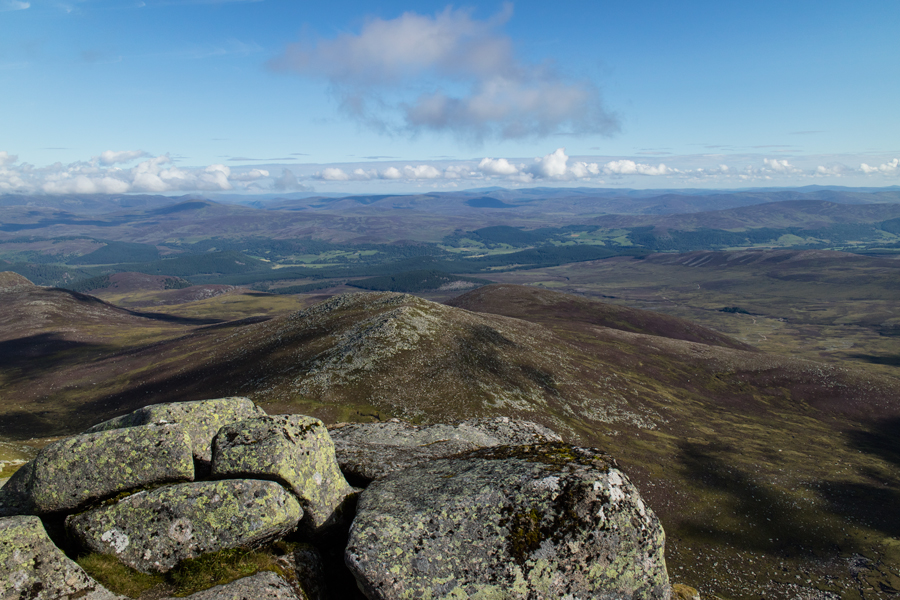 The view north from Cac Carn Beag