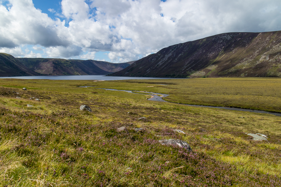 Looking back to Loch Muick from the track back to Spittal of Glenmuick