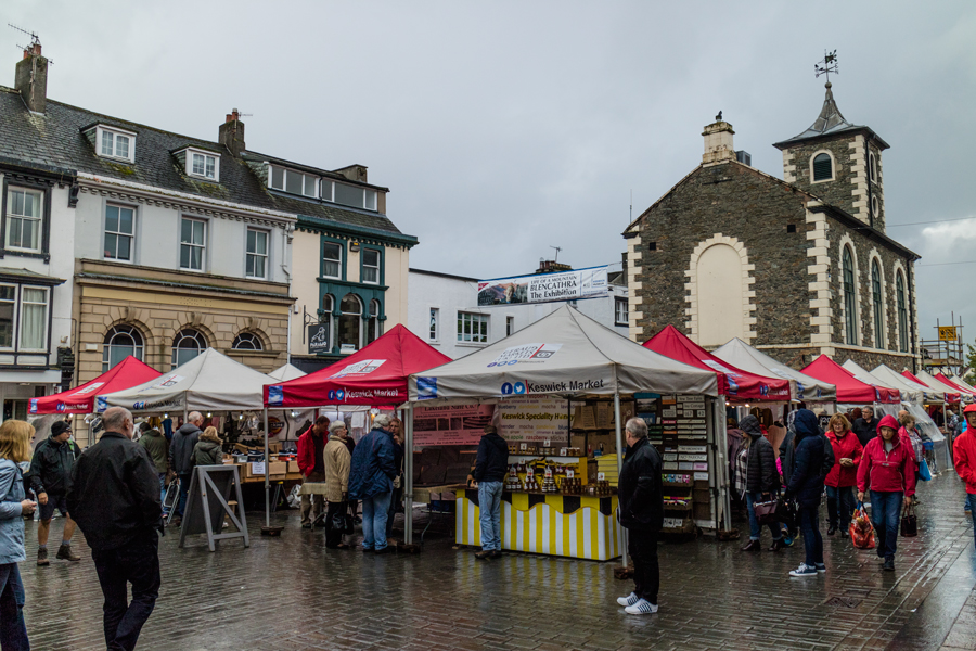 Saturday is market day in Keswick