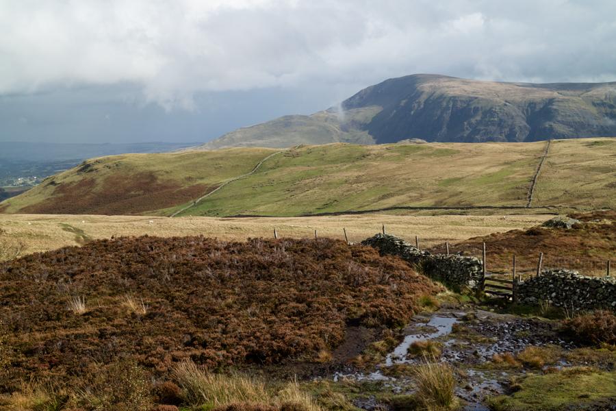 Clough Head from Walla Crag's summit