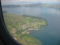 Tobermory, Isle of Mull with the islands of Rum and Eigg in the distance (16 Jun 2003)