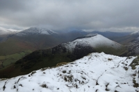 Ard Crags from Causey Pike's summit (4 Feb 2014)