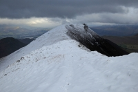 Looking back to Causey Pike from Scar Crags (4 Feb 2014)