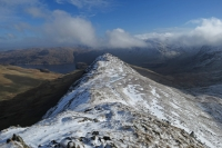 Looking back to Rough Crag from Long Stile (10 Feb 2014)