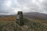 Black Crag, Black Fell's summit with Wetherlam beyond (22 Feb 2014)