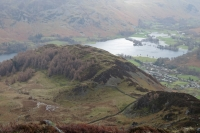Looking down on Glenridding Dodd and the head of Ullswater from Heron Pike (25 Feb 2014)