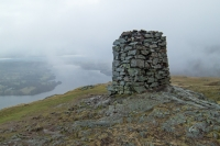 The obelisk on Hallin Fell's summit (6 Mar 2014)