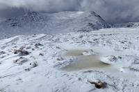 Gavel Pike, St Sunday Crag's subsidiary top, on the left (23 Mar 2014)