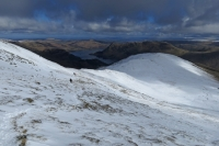 Looking back down on Birks as I head for Gavel Pike (23 Mar 2014)