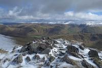 The far eastern fells from Gavel Pike's summit (23 Mar 2014)