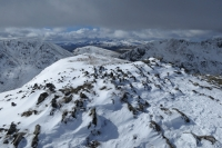 South west from St Sunday Crag's summit (23 Mar 2014)