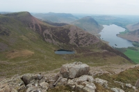 Red Pike, Bleaberry Tarn and Crummock Water from High Stile (3 May 2014)