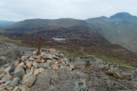 Towards Innominate Tarn and Great Gable from Haystacks summit cairn (3 May 2014)
