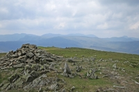 The view west from the summit cairn (18 May 2014)