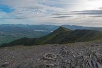 Gategill Fell Top from Hallsfell Top, Blencathra's summit (12 Jun 2014)