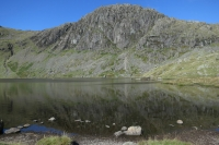 Looking across Stickle Tarn to Pavey Ark (7 Sep 2014)