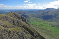 Loft Crag with Gimmer Crag on its side from Pike O'Stickle (7 Sep 2014)