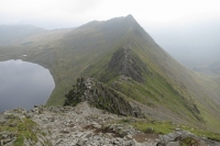 Looking down on Striding Edge (9 Sep 2014)