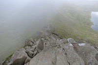 Descending Swirral Edge (9 Sep 2014)